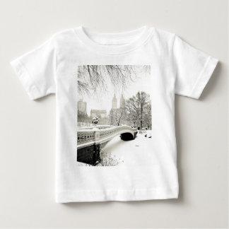 Central Park Winter - Snow on Bow Bridge Baby T-Shirt