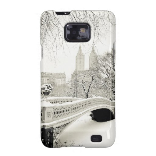 Central Park Winter - Snow on Bow Bridge Samsung Galaxy S2 Covers