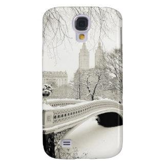 Central Park Winter - Snow on Bow Bridge Galaxy S4 Cover