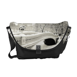 Central Park Winter - Snow on Bow Bridge Courier Bag