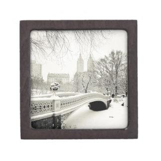 Central Park Winter - Snow on Bow Bridge Gift Box