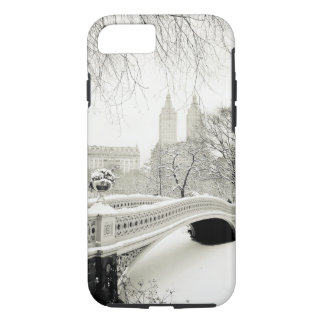 Central Park Winter - Snow on Bow Bridge iPhone 8/7 Case