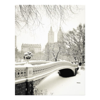 Central Park Winter - Snow on Bow Bridge Letterhead