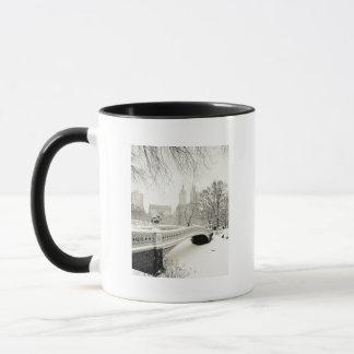 Central Park Winter - Snow on Bow Bridge Mug