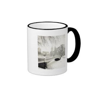 Central Park Winter - Snow on Bow Bridge Ringer Mug