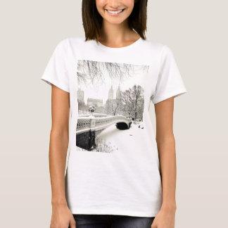 Central Park Winter - Snow on Bow Bridge T-Shirt