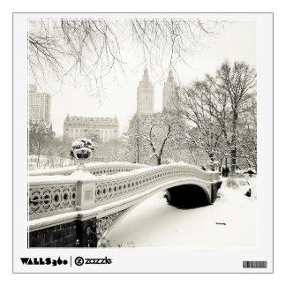 Central Park Winter - Snow on Bow Bridge Wall Sticker