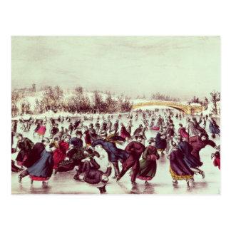 Central Park, Winter: The Skating Carnival Postcard