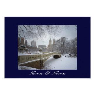 Central Park Winter Wedding Custom Invitation