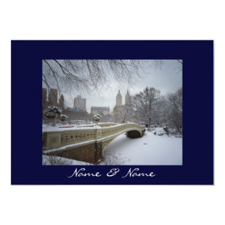 Central Park Winter Wedding 5x7 Paper Invitation Card
