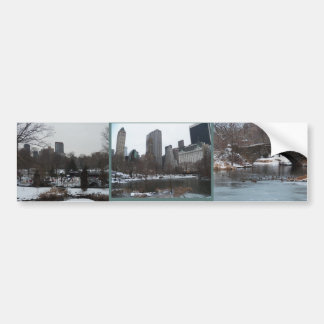 Central Park Wollman Ice Skating Rink Car Bumper Sticker