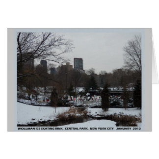 Central Park Wollman Ice Skating Rink Greeting Card