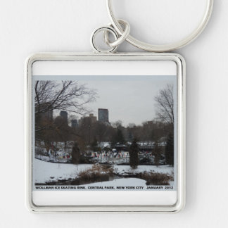 Central Park Wollman Ice Skating Rink Keychain