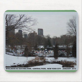 Central Park Wollman Ice Skating Rink Mouse Pad