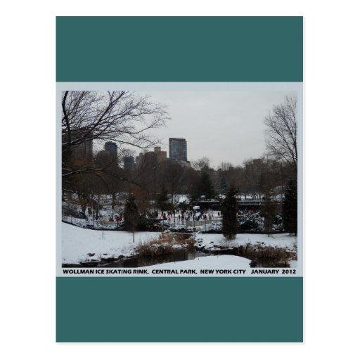 Central Park Wollman Ice Skating Rink Postcard