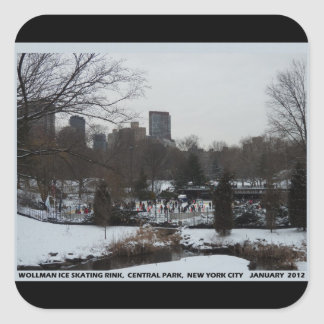 Central Park Wollman Ice Skating Rink Square Sticker