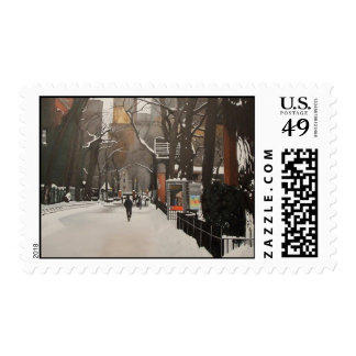 CENTRAL PARK ZOO IN THE SNOW POSTAGE STAMP