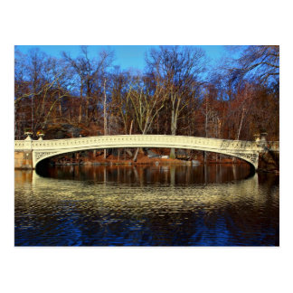 Central Park's Bow Bridge Photo Postcard