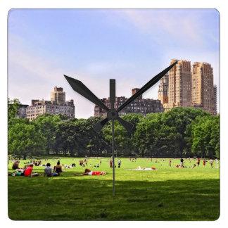 Central Park's Sheep Meadow Square Wallclocks