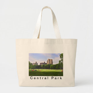 Central Park's Sheep Meadow Large Tote Bag