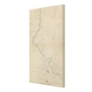 Central Portion of Upper Geyser Basin Canvas Print