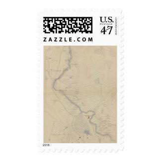 Central Portion of Upper Geyser Basin Postage