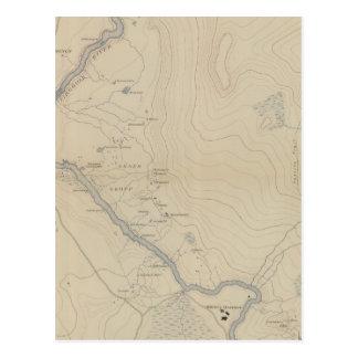 Central Portion of Upper Geyser Basin Postcard