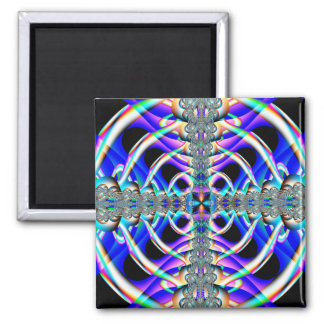 'Central Presence' 2 Inch Square Magnet