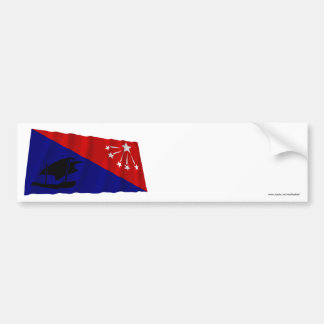Central Province Waving Flag Bumper Sticker