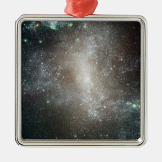 Central region of the barred spiral galaxy square metal christmas ornament