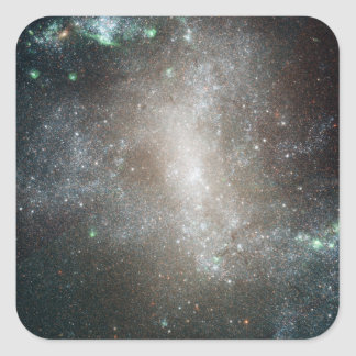 Central region of the barred spiral galaxy square sticker
