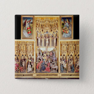 Central section of the Ambierle Altarpiece Pinback Button
