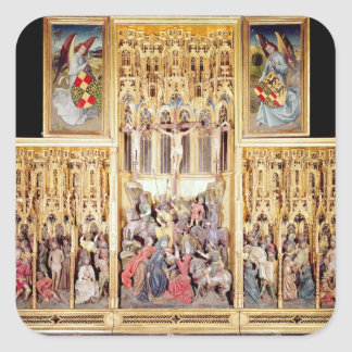 Central section of the Ambierle Altarpiece Square Sticker