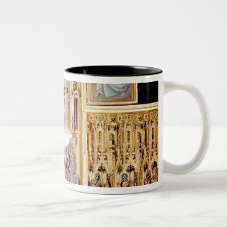 Central section of the Ambierle Altarpiece Two-Tone Coffee Mug