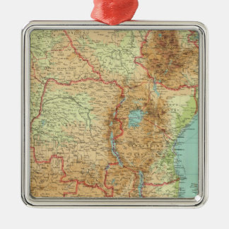 Central & Southern Africa with shipping routes Metal Ornament