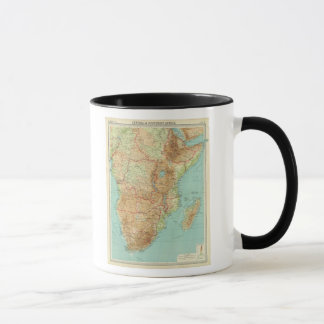 Central & Southern Africa with shipping routes Mug