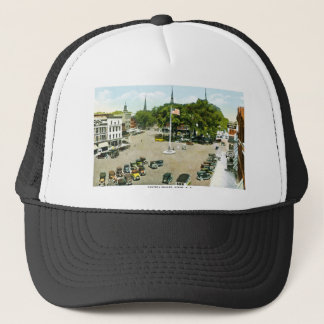 Central Square, Keene, New Hampshire Trucker Hat