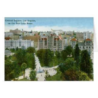 Central Square, Los Angeles Vintage Greeting Card