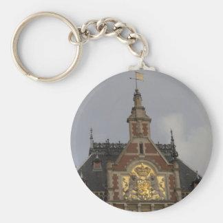 Central Station, Amsterdam Basic Round Button Keychain