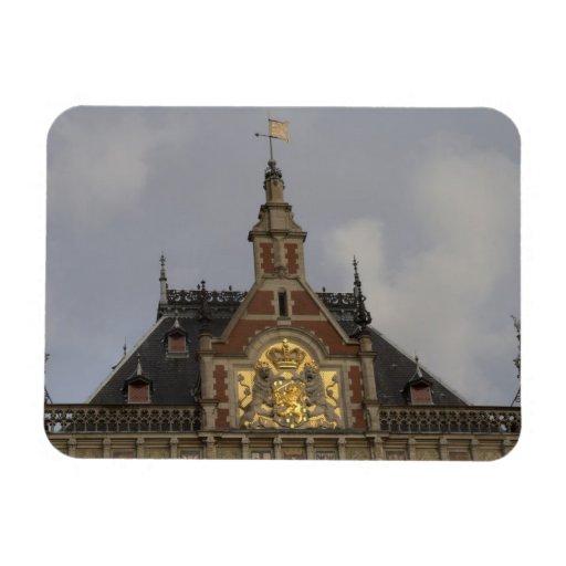 Central Station, Amsterdam Vinyl Magnet