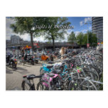 Central Station Bicycle Park, Sights of Amsterdam Postcard