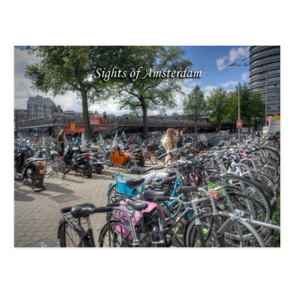 Central Station Bicycle Park, Sights of Amsterdam Postcards