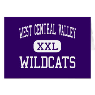 Central Valley del oeste - gatos monteses - alto - Tarjeta De Felicitación