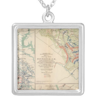 Central Virginia Dinwiddie CH Silver Plated Necklace