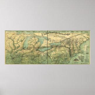 Central y el río Hudson RR de NY Impresiones