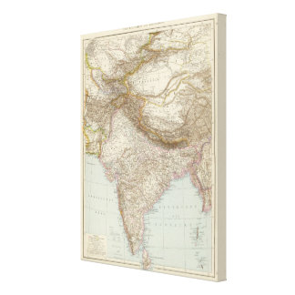 Centralasien, Ostindien - Central and South Asia Canvas Print