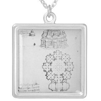 Centralised church, and maritime engineering square pendant necklace