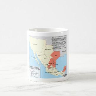 Centralist Republic of Mexico Territorial Map Classic White Coffee Mug