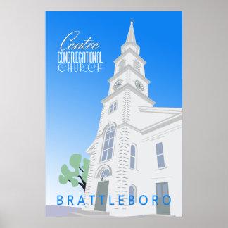 Centre Congregational Church Retro Poster