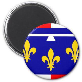 Centre, France flag 2 Inch Round Magnet
